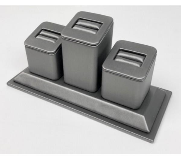 "Steel Grey 3 -Slot Ring   -  6 3/8"" x 2 3/4"" x 3 1/8""H"