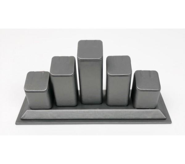 """Steel Grey 5- Clip Tagless Ring-8 1/4"""" x 2 3/4"""" x 3 3/4"""" H"""