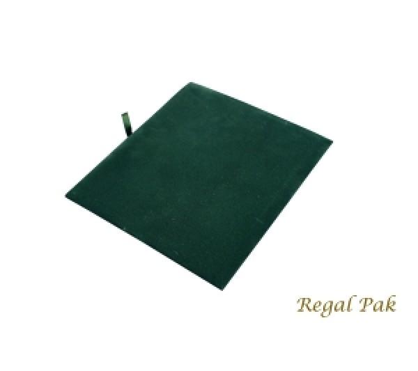 "Half Size Green Velvet Tray Pad 7-3/4"" X 6-3/4"""