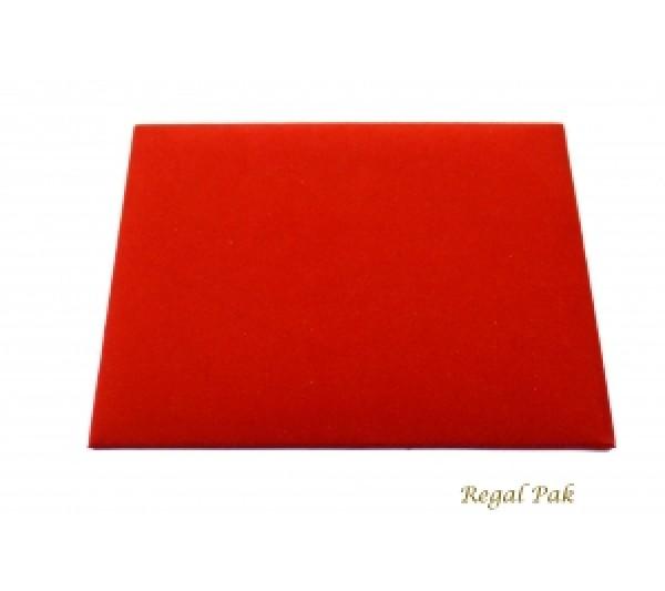 "Half Size Red Velvet Tray Pad 7-3/4"" X 6-3/4"""