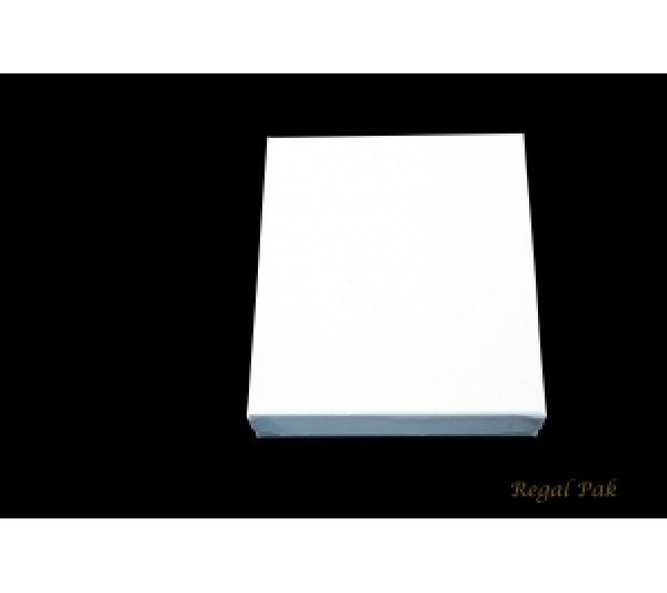 Glossy White Cotton Filled Paper Box 6 1/8