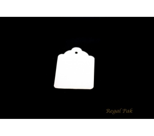"""White Paper Pricing Tag With String (1000 Pieces In A Pack) 5/16"""" X 3/4"""""""