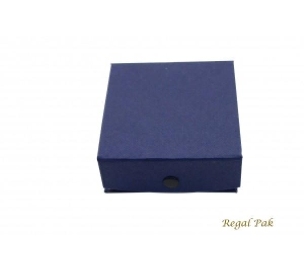 Blue Paper Ring/Pendant Box 3 3/8