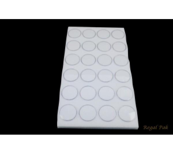 "White Gemstone Jar Liners With 24 Jars 14 1/4"" X 7 3/4"" X 3/4""H;1 3/4""Dia Jar"