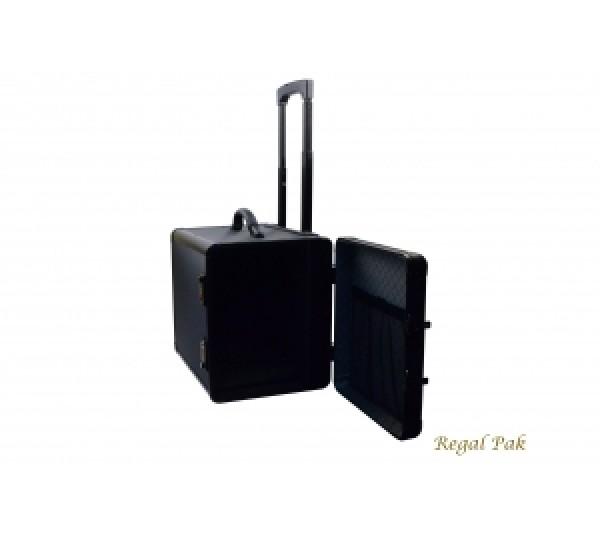 "Aluminum Case Side-Open Hidden Handle-12 Trays 16 3/8""X11 1/2""X15 1/2"""