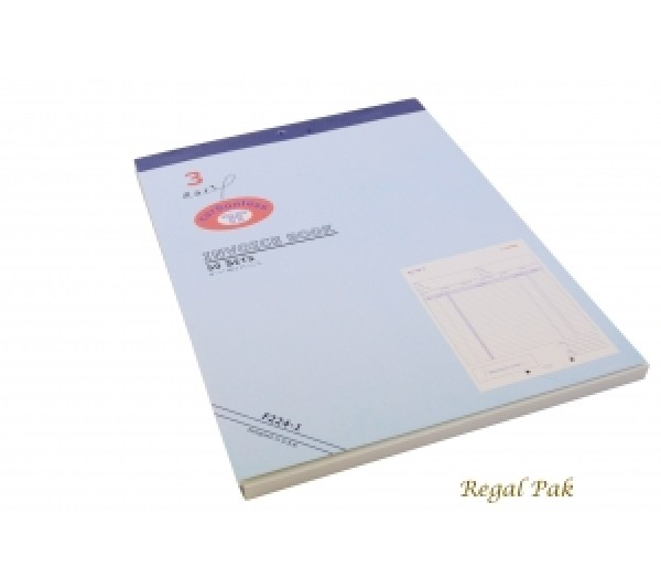 """Extra Large 3-Part Invoice Carbonless Book (50 Sets/Book) 8 1/2"""" X 11 5/8"""""""