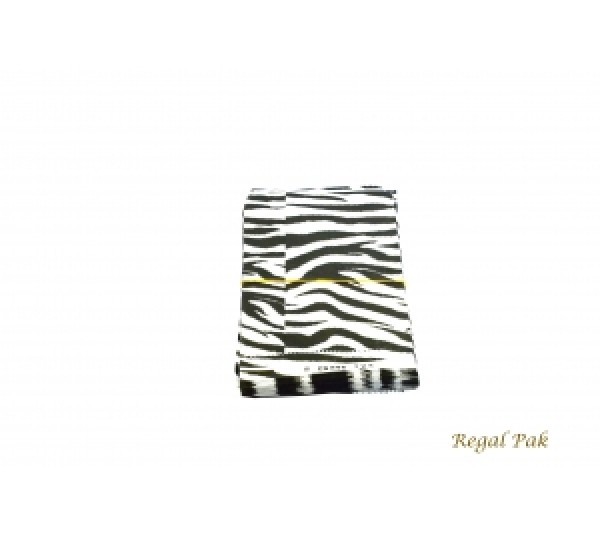 "Zebra Print Jewelry Gift Bag (100 Pieces In A Pack) 5"" X 7"""