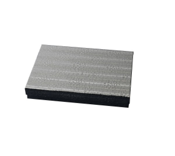 Silver Texture Cotton Filled Box 5 5/8
