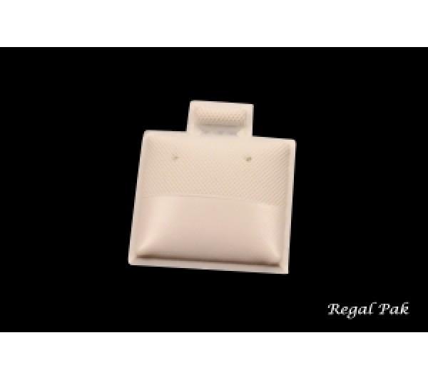 "Vinyl White Plain Plastic earring puff pad 1"" x 1"""