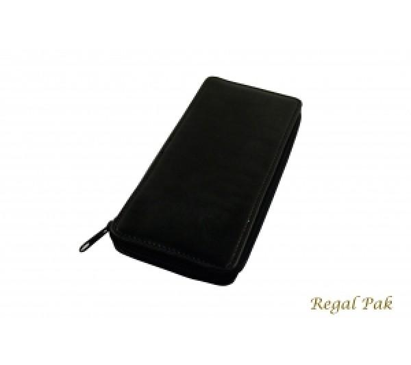 "Black Leatherette Gem Parcel Wallet 3 1/2"" X 8 1/2"""