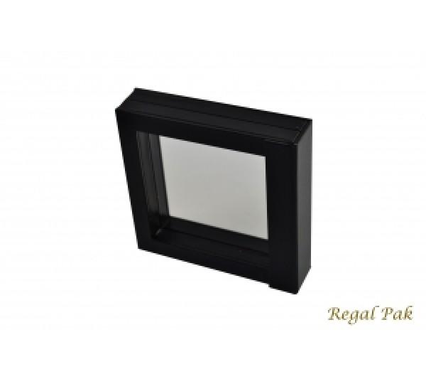 """Manhattan Collection 3-D  Pendant Box 5 1/4"""" x 5 1/4"""" x 1 1/4""""H (Black Color)"""