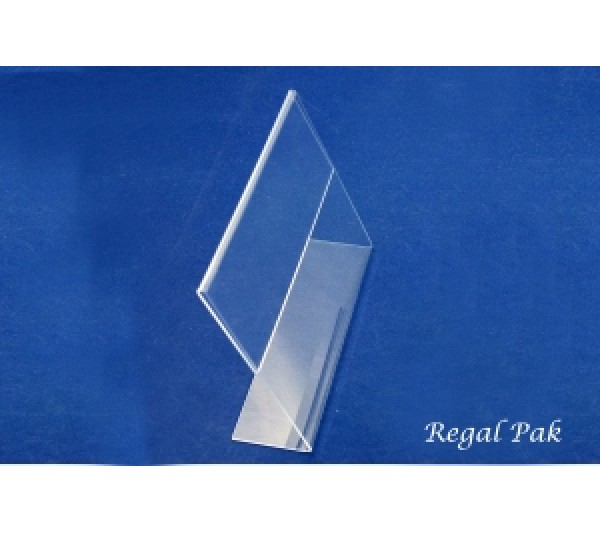 "Slant Back Acrylic Sign Holder 7"" X 5 1/2""H"