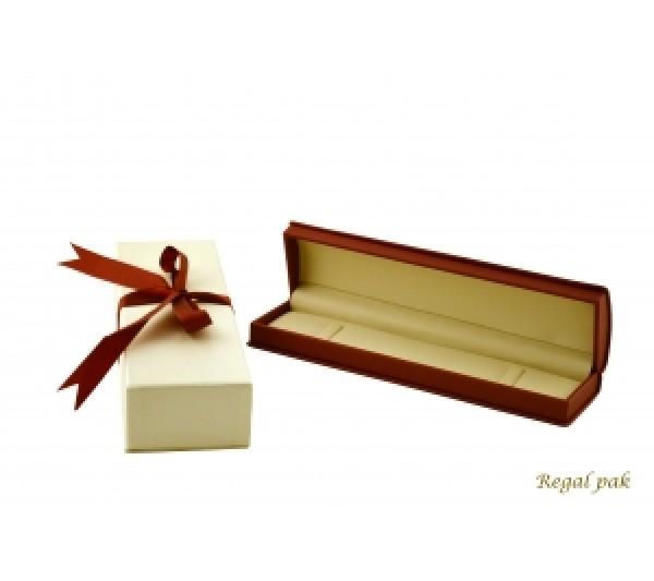 Wilson Collection Leatherette Bracelet Box 8 5/8'L x 2 1/4' W x 1 5/8' H