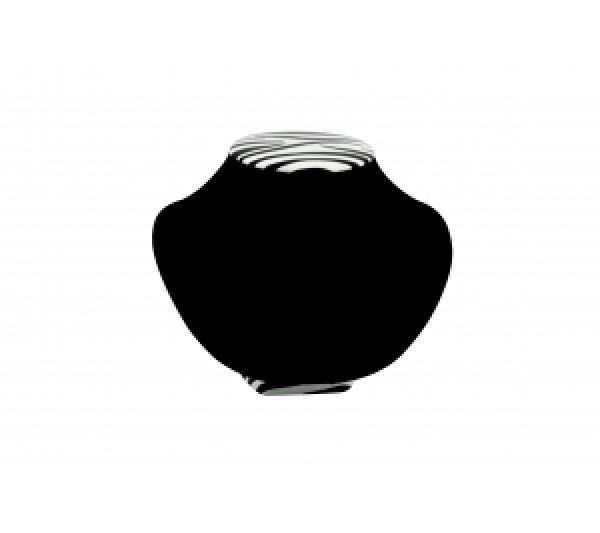 """Zebra / Black Velvet Neckform Bust 8 1/2"""" X 7 1/4"""" X 6 1/2""""H"""