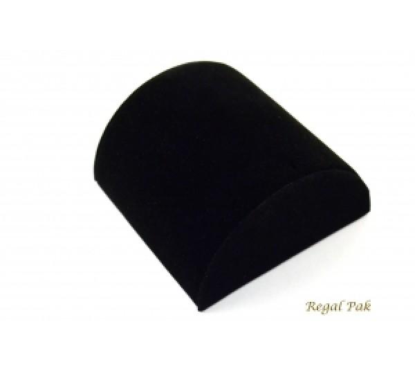 "Black Velvet Medium Size Bracelet Half Moon 5 1/8"" X 5"" X 2 1/2""H"