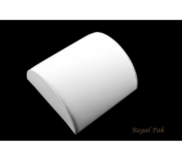 "White Leatherette Medium Size Bracelet Half Moon 5 1/8"" X 5"" X 2 1/2""H"