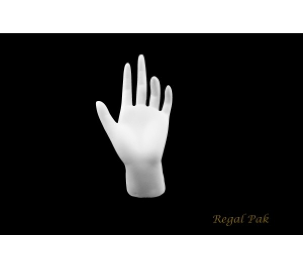 "White Polystyrene Hand Display 3-3/8"" X 6-1/4""H"