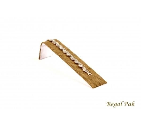 """Burlap Natural Color  Bracelet Display Ramp 1 1/2"""" X 8"""" X 2 1/8""""H"""