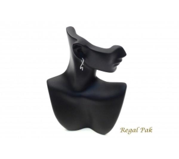 "Black Elegant Poly Figure Display 6"" X 2-3/4"" X 9""H"