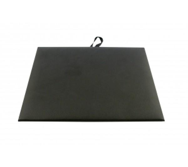 "Steel Grey Faux Leather Half Size Pad 7-3/4"" X 6-3/4"""