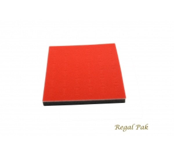 "Half Size Red Ring Foam Insert (36 Rings) 7-3/4"" X 6-3/4"" X 5/8""H"