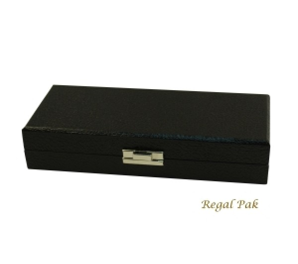 """Black Wide-Slot Ring Tray Case (12 Rings) 8-1/4"""" X 3-1/2"""" X 1-3/4""""H"""