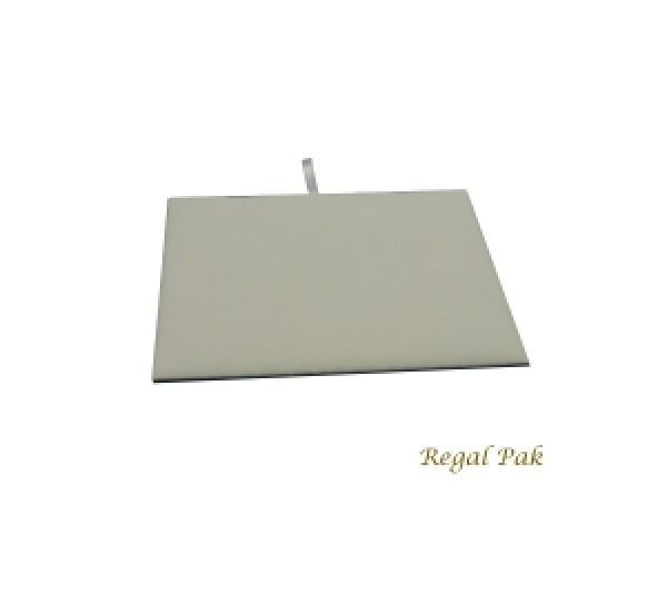 """Half Size White Velvet Tray Pad 7-3/4"""" X 6-3/4"""""""