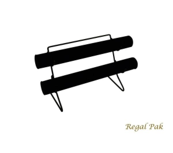 "Black Velvet Two-Bar Display With Metal Base 12-1/8"" X 6-1/2"" X 7-5/8""H"