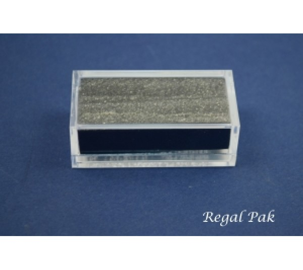 "Clear And Rectangular Acrylic Gem Box With Two Black Foam 2"" X 1"" X 23/32""H"