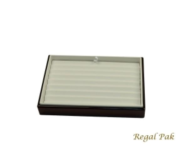 "Rosewood Slanted Bracelet Tray (8-Bracelet) 8-1/2"" X 5-3/8"" X 2""H"