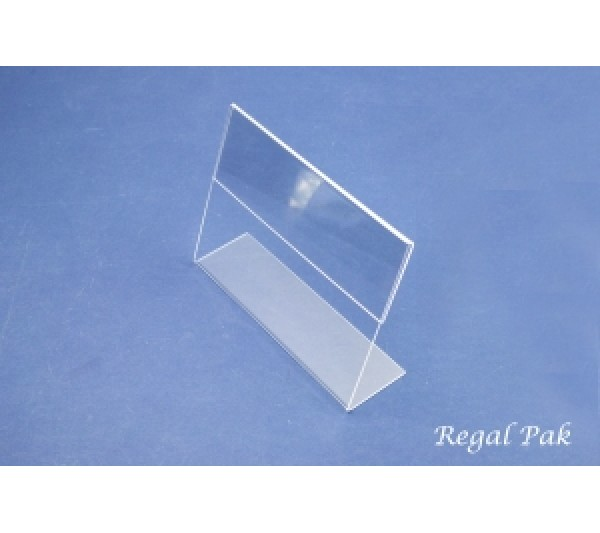 "Acrylic Sign Holder (Slant Back) 7"" X 5""H"