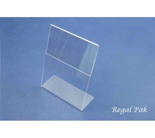 "Acrylic Sign Holder (Slant Back)5 1/2"" X 7""H"