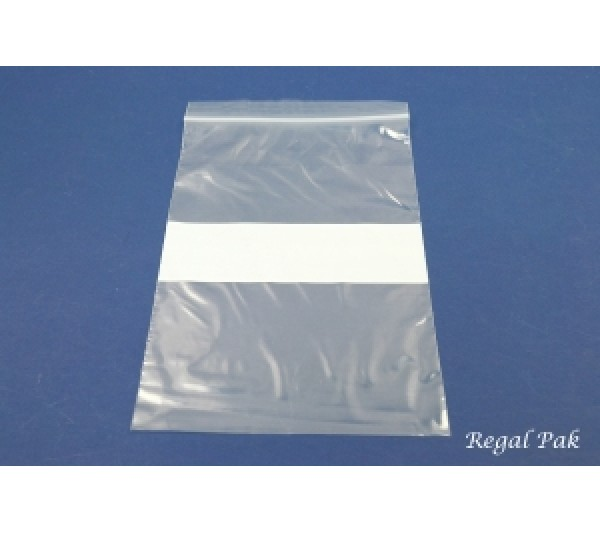 "Reclosable 2 Mil White Band Zipper Bags (100 Pieces In A Pack) 6"" X 9"""