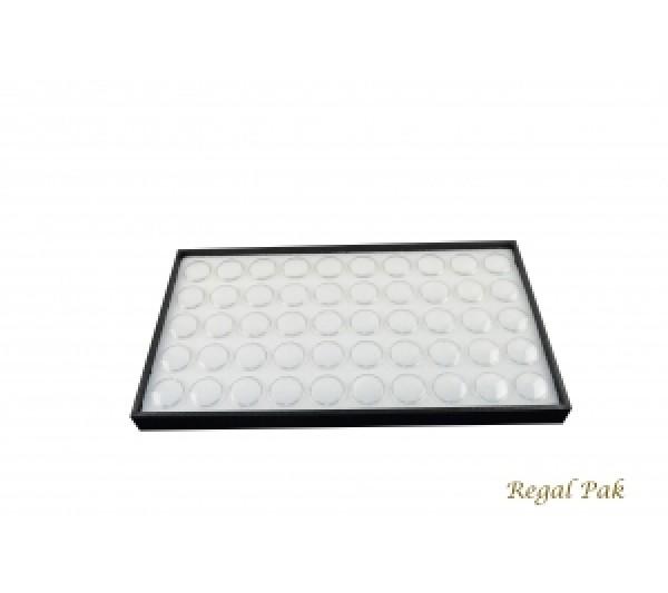 "Standard Size Utility Wood Tray W/50 Gem Jar Foam 14 3/4"" X 8 1/4"" X 1""H"