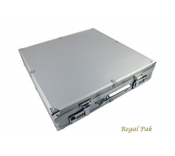 "Silver Color Aluminum Attach Case 15-1/4"" X 15-1/4"" X 3-1/4""H"