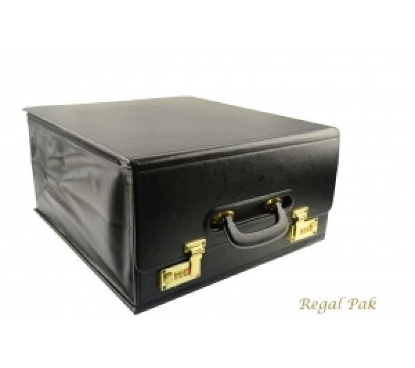 """Foldable Salesman's Drop Front Case 16"""" X 8 -1/2"""" X 17""""H"""