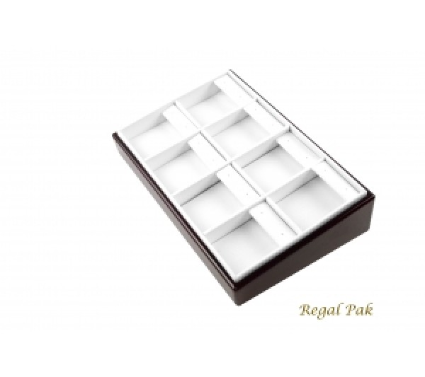 "Rosewood Slanted Earring Tray (8-Pad)  8-1/2"" X 5-3/8"" X 2""H"