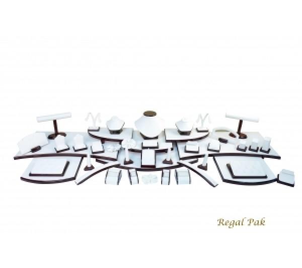 "Elegant Rosewood Portable Display Set (61-Pcs) 67-1/4"" X 16"" X 7-3/4""H"