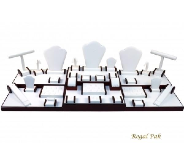 """Rosewood Display Set (35-Pieces) 44-1/4"""" X 16-1/2"""" X 10-3/4""""H"""