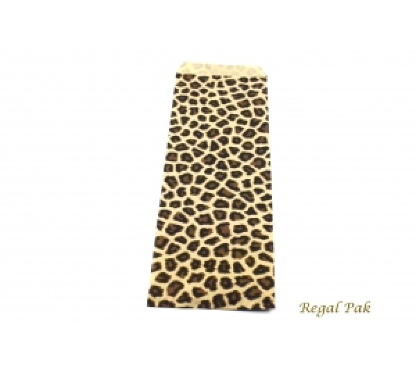 "Leopard Print Jewelry Gift Bag (100 Pieces In A Pack) 4"" X 11"""