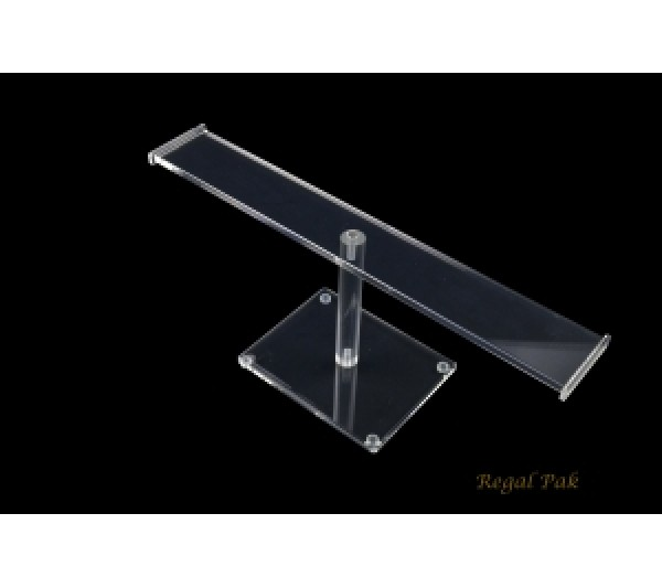 "Acrylic  ""T"" Bar (Flat) Display For Bracelet 12""W X 5 1/4""H"