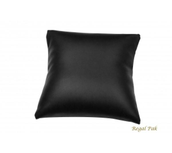"""Large Black Leatherette Bracelet/Watch Pillow 5"""" X 5"""""""