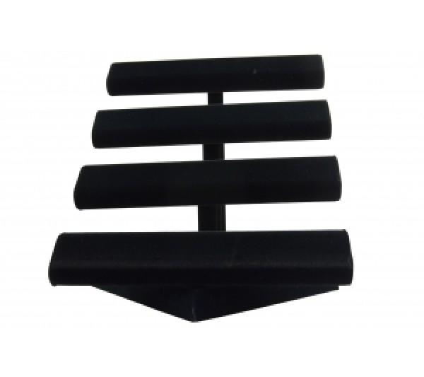 """Black Velvet 4-Level Oval Shape T-Bar 12-5/8""""W X 12-5/8""""Dx 12""""H"""