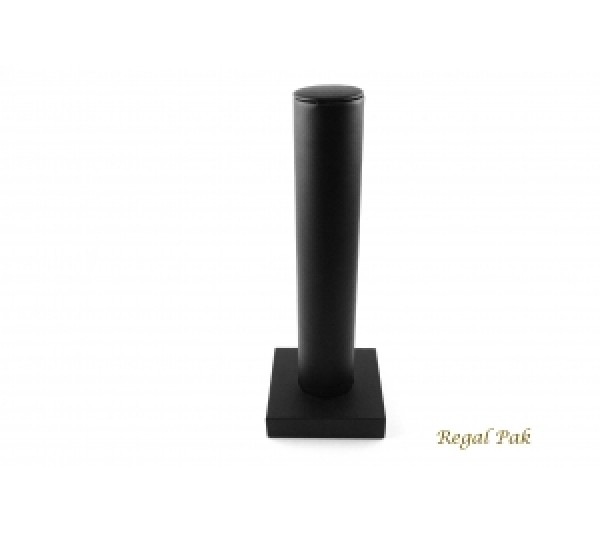 """Black Faux Leatherette Bracelet Bar Display 4-1/4""""D X 13""""H"""