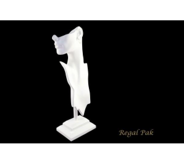 "White Elegant Poly Figure Display 8-1/4"" X 5-1/2"" X 19-1/2""H"