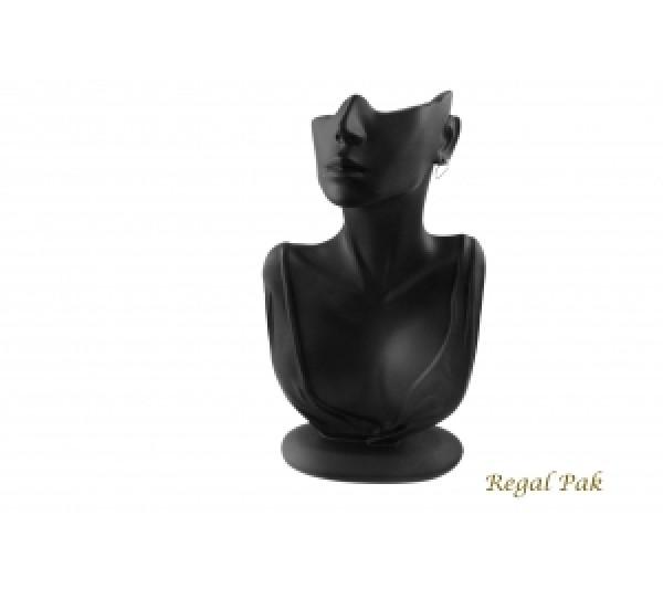 "Black Elegant Poly Figure Display 6-7/8"" X 3-1/2"" X 12-1/4""H"
