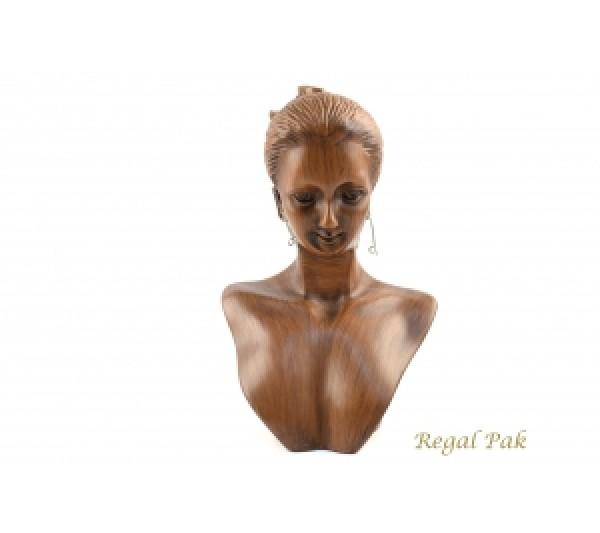 """Vintage Elegant Poly Figure Display 5-1/2"""" X 3-1/3"""" X 8""""H"""