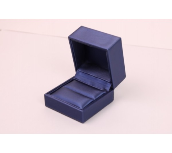 "Steel Blue / Royal Blue Slot  Ring Box, 2 5/8""( L) x 2 5/8""( W) x 2"" H"