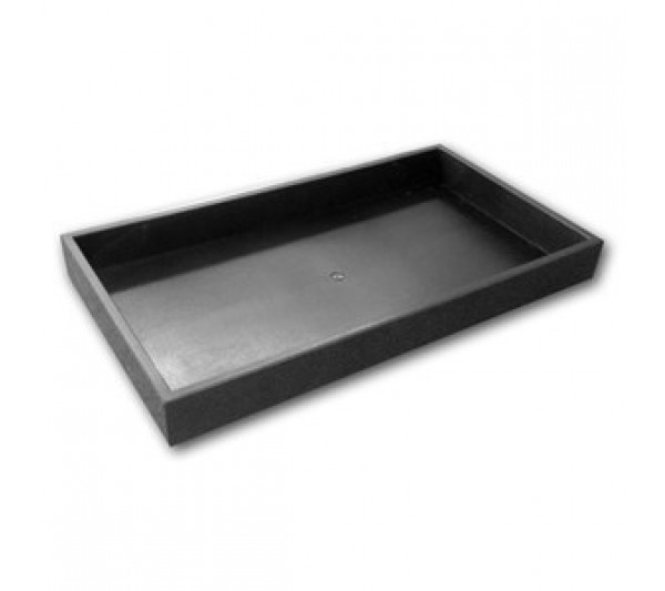 "One And A Half Inches Deep Black Full Size Plastic Stackable Jewelry Tray 14-3/4"" X 8-1/4"" X 1-1/2""H"