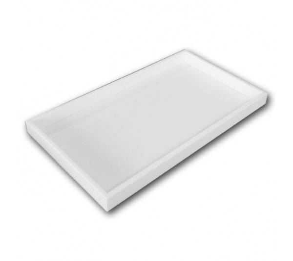 "Two Inches Deep White Full Size Plastic Stackable Jewelry Tray 14-3/4"" X 8-1/4"" X 2""H"